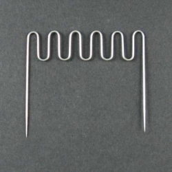 Small comb for roller pillows, 5 curves